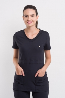 Blusa Lovely Manga Curta - Preto
