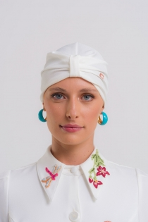 Touca Turbante PatBO & Dra. Cherie Feminina - Off White