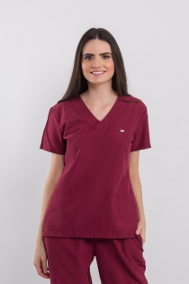 Scrub Basic Feminino - Bordô