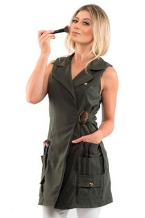 Jaleco Valentina Maquiadora Feminino - Verde Militar