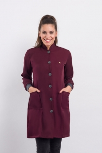 Jaleco New Basic Feminino - Bordo
