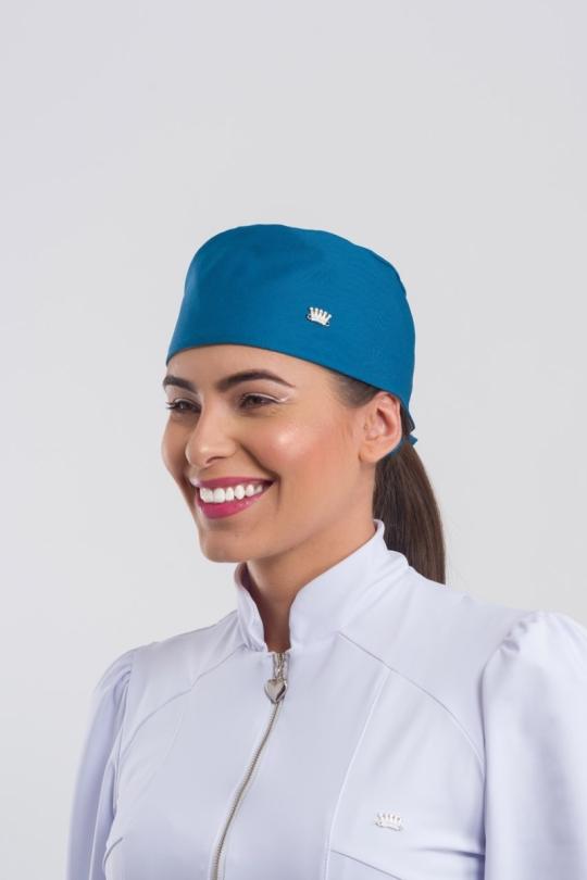 Touca Bandana Younique Feminina - Azul Petróleo