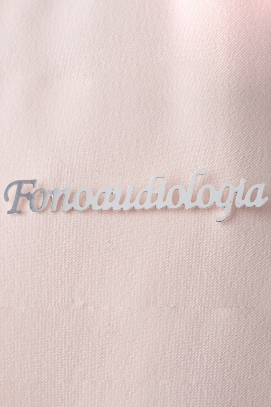 Broche Prata Fonoaudiologia