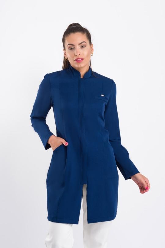 Jaleco Elegance Feminino - Azul Marinho