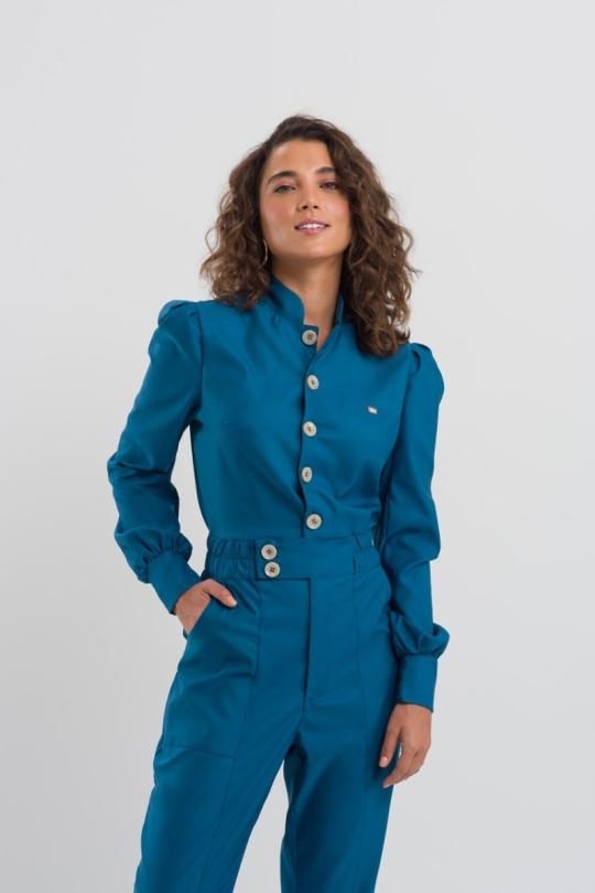 Macacão Nina Feminino - Azul Petróleo