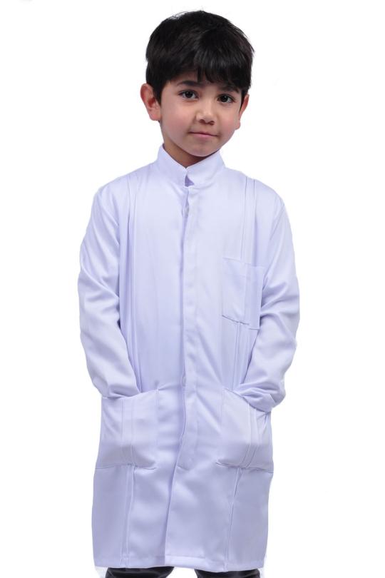 Mini Jaleco Lord Masculino - Branco