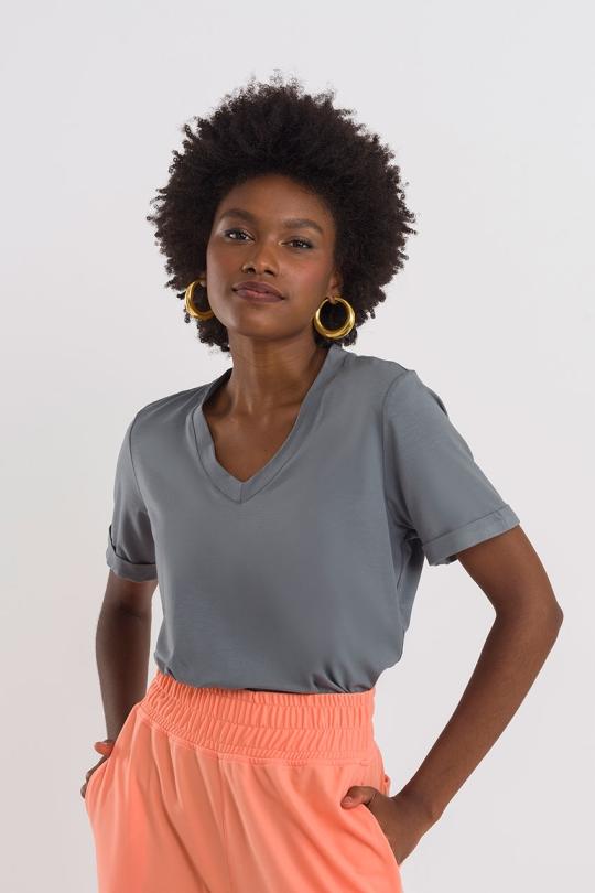 Shirt Basic - Cinza
