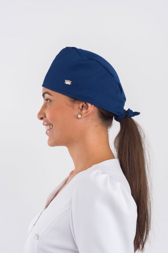 Touca Bandana Elegance Feminina - Azul Marinho