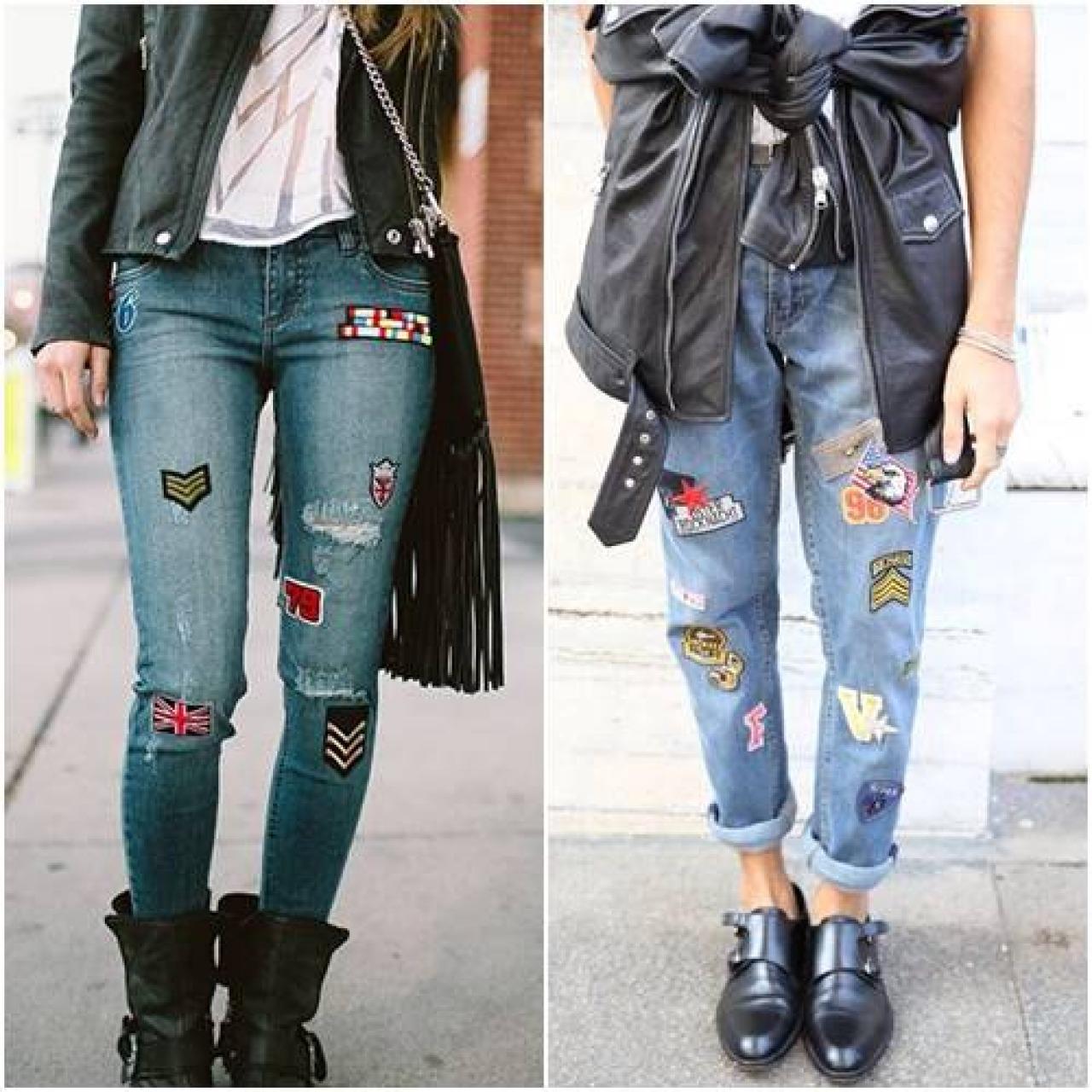 Patches em calça jeans é tendência.