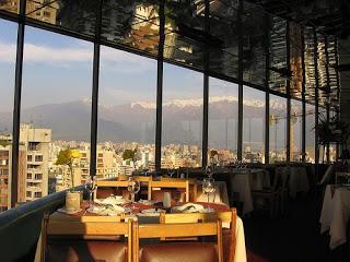 Restaurante Giratorio em Santiago
