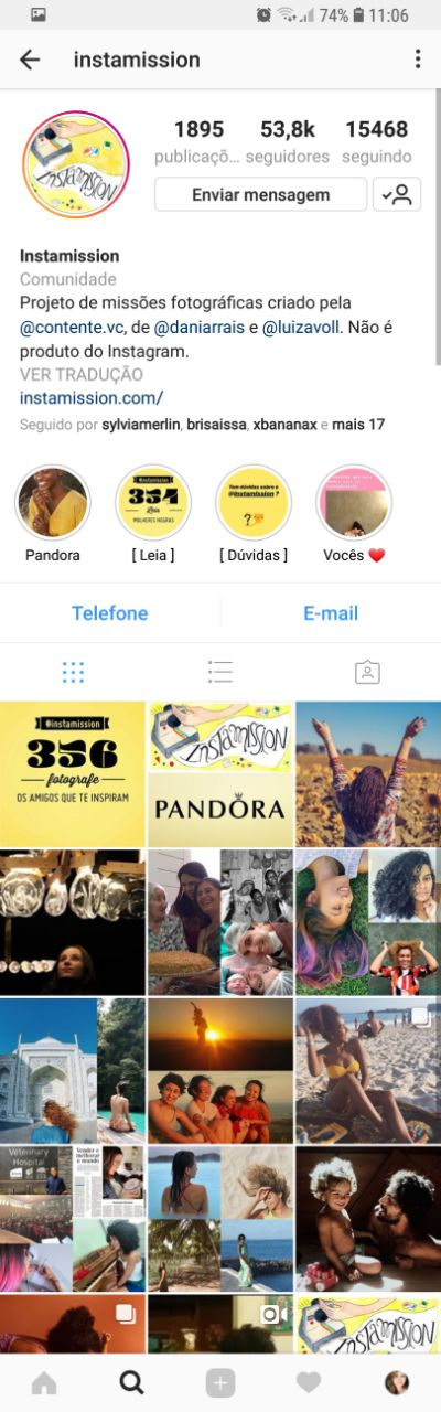 Instagram do Instamission