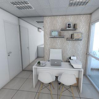 Papel de parede básico para consultórios.