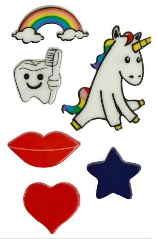 Os pins são removíveis, podem ser usados em várias peças.