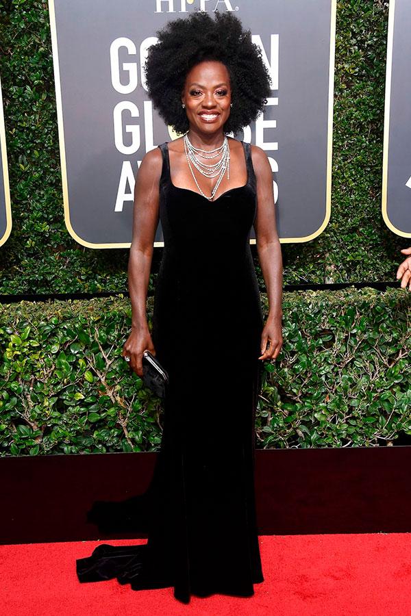 Viola Davis no Golden Globes